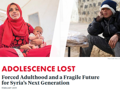 ADOLESCENCE LOST Forced Adulthood and a Fragile Future for Syria's Next Generation